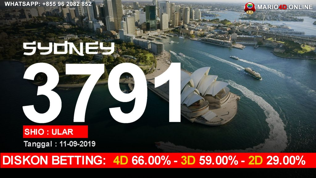 HASIL RESULT SYDNEY POOLS 11 SEPTEMBER 2019