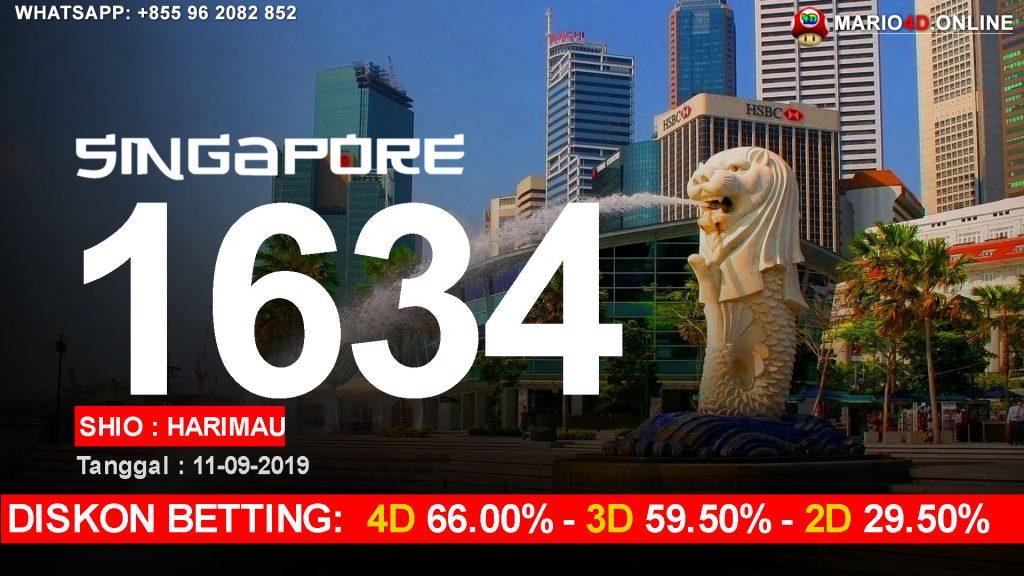 HASIL RESULT SINGAPORE POOLS 11 SEPTEMBER 2019