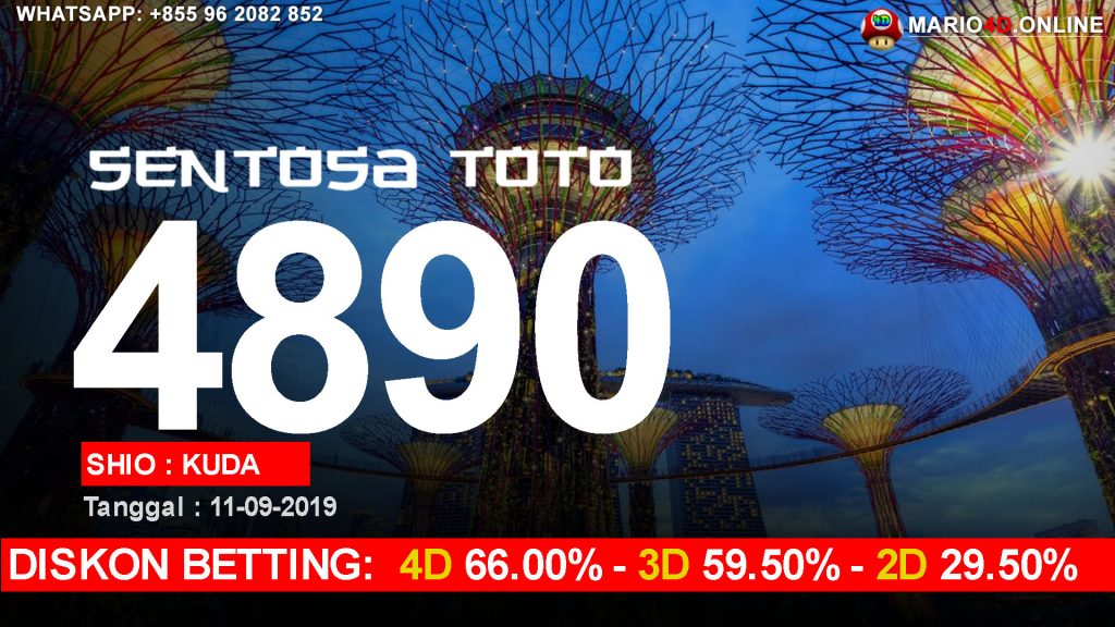 HASIL RESULT SENTOSA TOTO 11 SEPTEMBER 2019
