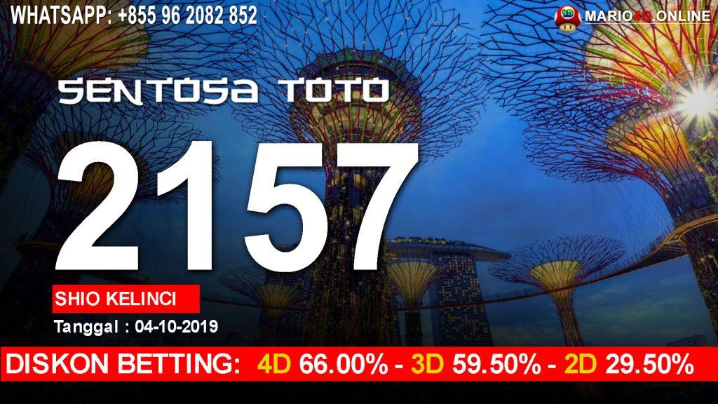 RESULT SENTOSA TOTO 04 OKTOBER
