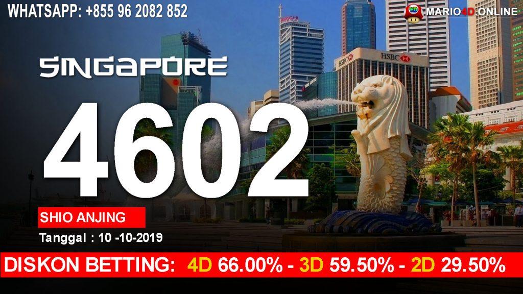 HASIL RESULT SINGAPORE POOLS 10 OKTOBER 2019