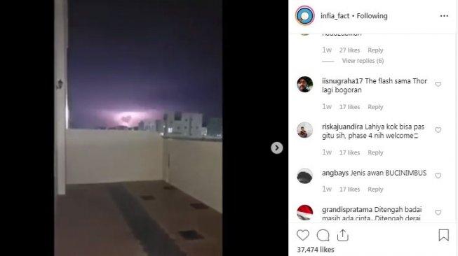 Sambaran Petir di Oman Ini Berbentuk Hati, Warganet Jadi Penuh Cinta
