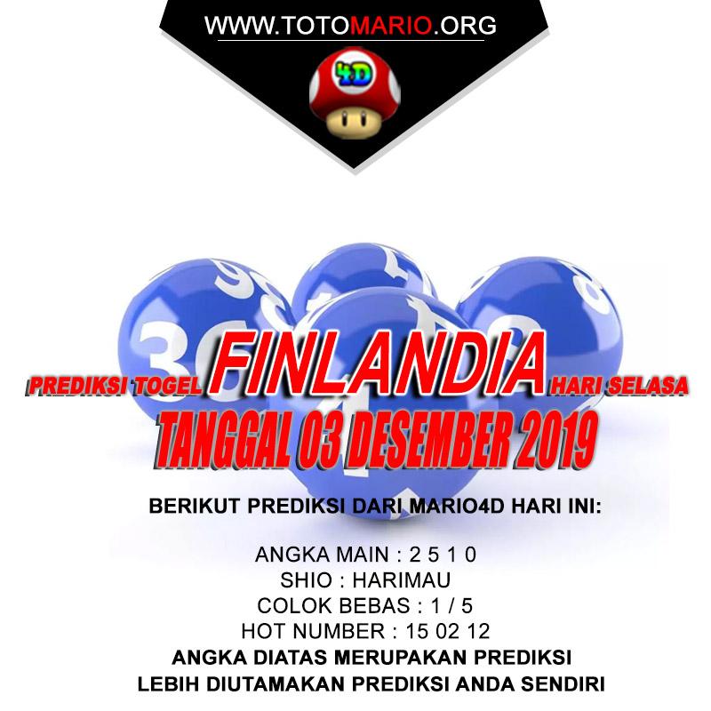 PREDIKSI FINLANDIA LOTTERY 03 DESEMBER 2019