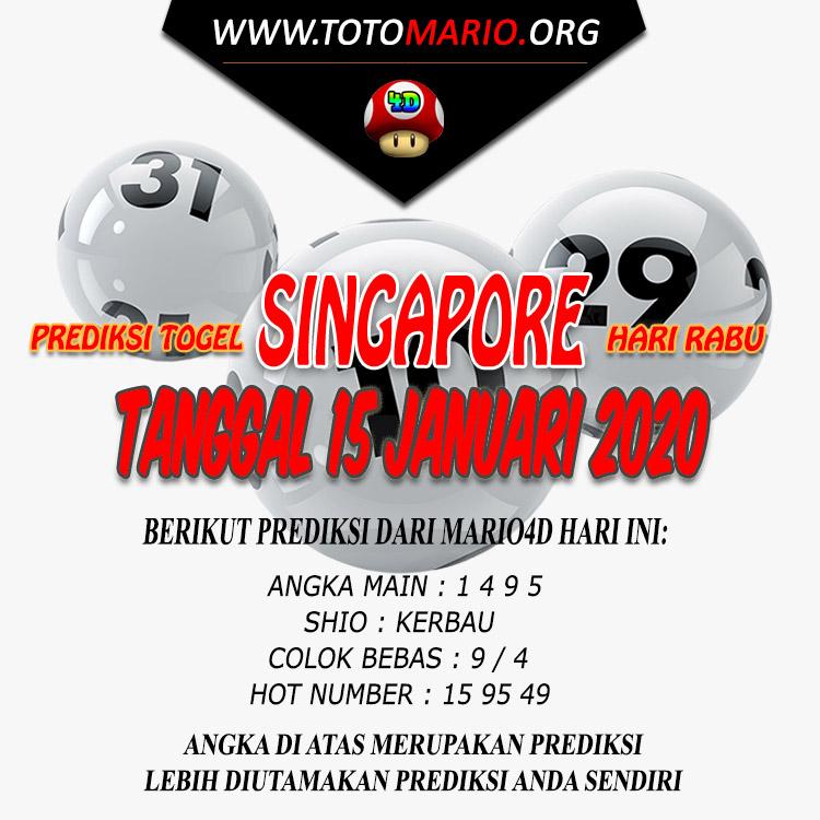 PREDIKSI SINGAPORE POOLS 15 JANUARI 2020