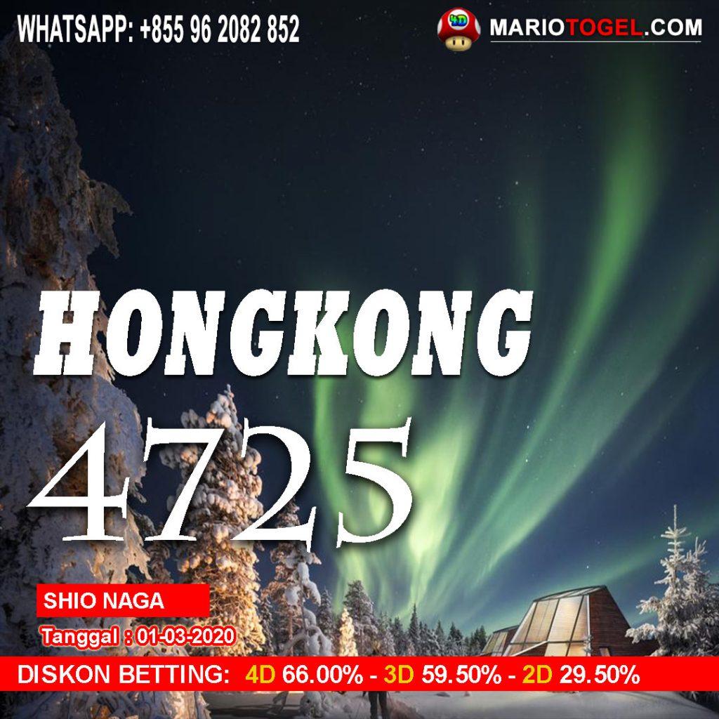 RESULT HONGKONG 1 MARET 2020 Mario4d