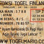 PREDIKSI TOGEL FINLANDIA TANGGAL 4 JUNI 2020