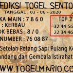 PREDIKSI TOGEL SENTOSA TANGGAL 3 JUNI 2020